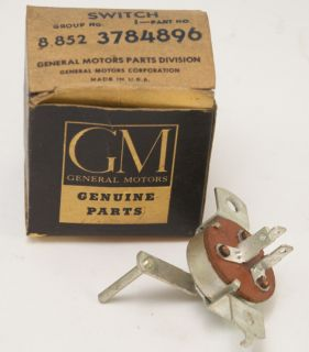 1960 61 Chevrolet Corvair Gas Heater Control Switch