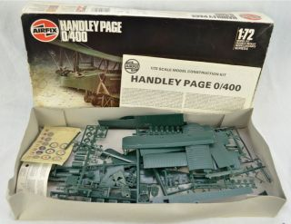 Airfix Handley Page 0 400 Series 6 1 72 Scale Plastic Airplane Model