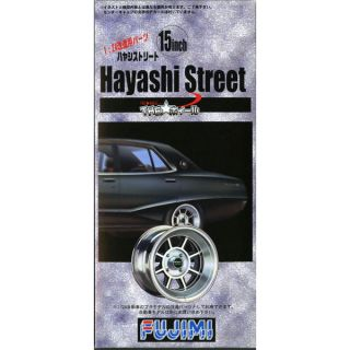 Fujimi TW07 Hayashi Street Wheel Tire Set 15 inch 1 24 scale kit