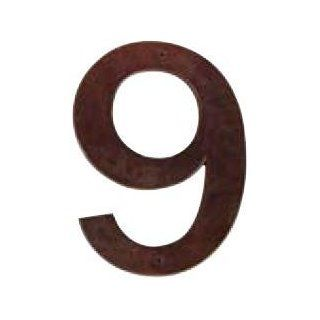 Bronze   6 Height Bronze Address Number Nine Patio, Lawn & Garden
