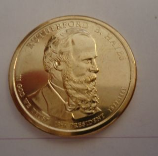 2011 D Rutherford B Hayes Uncirculated Presidential Dollar