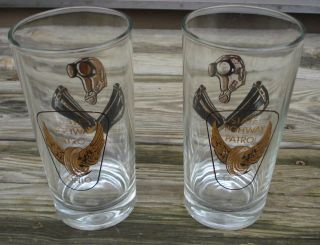 Vintage Ohio State Highway Patrol Drinking Glasses Motorcycle