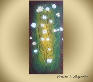 Heather R Lange Original Green Art Abstract Large Canvas Painting
