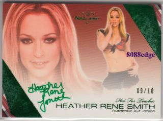Hot for Teacher Auto Heather Rene Smith 9 10 Green Autograph