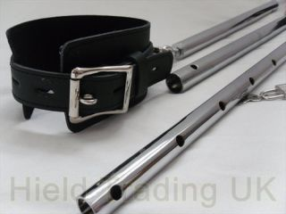 EXTENDABLE LEG SPREADER RESTRAINT BAR WITH LEATHER ANKLE CUFFS ANKLE