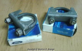 Ford Boss 429 Heat Tube Clamps Genuine KKX Assembly Line Clamps Mint