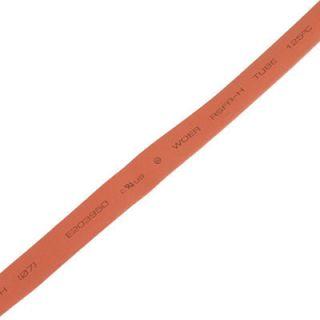 7mm Red Heat Shrinkable Tube Shrink Tubing 2M 6 6ft