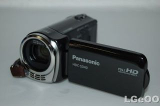 panasonic hdc sd40 camcorder black full hd 1080p product condition