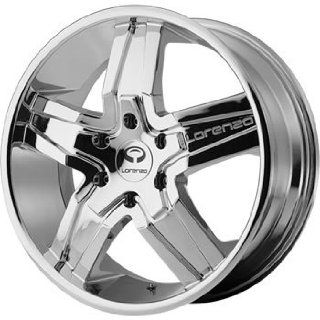 Lorenzo WL030 22x9 Chrome Wheel / Rim 6x5.5 with a 38mm Offset and a