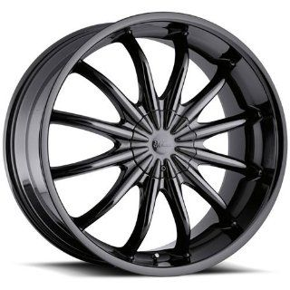 Milanni Baron 20 Black Chrome Wheel / Rim 5x112 & 5x4.5 with a 20mm