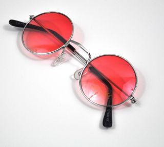Vtg Round Pink Lens 90s Glasses Sunglasses BNWT New Hippy Lennon Ozzy