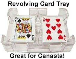 Six (6) Deck Revolving (Swivel) Playing Card (Canasta, Rummy, UNO
