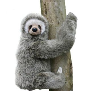 Features of Hansa Three Toed Sloth Stuffed Plush Animal, Sitting