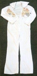 rubie s white elvis presley jumpsuit size medium
