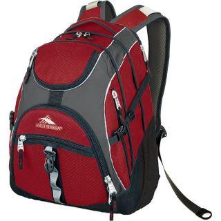 High Sierra Access Backpack   Carmine/Charcoal/Black 5462 906