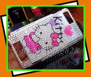 Kitty Bling Hard Case Cover Motorola Droid X2 MB870 II