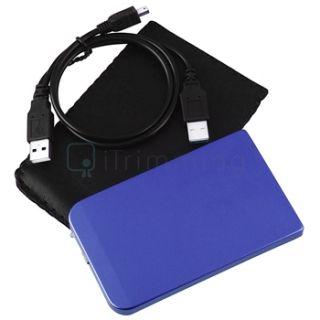 New USB 2.0 2.5 SATA Hard Disk Drive HDD Blue Enclosure/Case