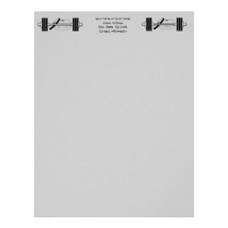 Bodybuilding Personal or Business Letterhead