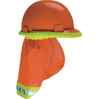 Cooling Fabric Sunshade with Reflective Striping for Hard Hats