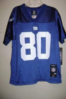 Reebok Boys Jeremy Shockey N Y Giant Jersey 80 5 6
