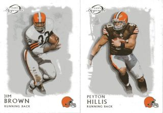 Topps Legends Jim Brown Peyton Hillis Cleveland Browns Rookie