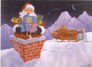 Christmas Greeting Cards with Harley Davidson Graphics