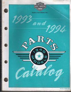 HARLEY DAVIDSON OEM PARTS CATALOG 1340 EVO 1993 94