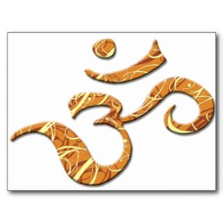 Ohm Symbol in Bronze (Postcard)