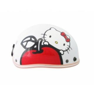 Hello Kitty Motor Bike Helmet Harley Apple Pink White Hotpink Sanrio