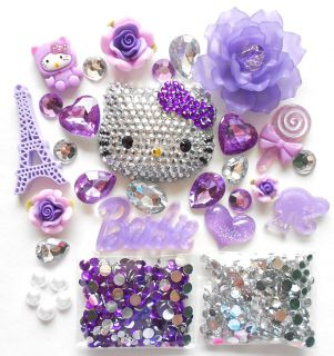 DIY Blinged Out Hello Kitty Bling Bling Cabochons Kawaii Deco Kit Set
