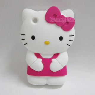 3D Hello Kitty Lovely Silicone Soft Cover Case for Apple iPhone 3 3G