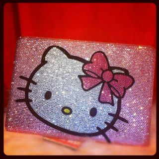 CRYSTAL PINK HELLO KITTY LAPTOP HARD CASE FR MAC BK PRO 15 HAND STRASS