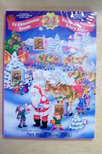 Advent Calendar Filled with Milk Chocolate Holiday Chocolate Calendar