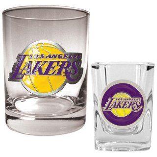Los Angeles Lakers NBA Rocks Glass & Square Shot Glass Set