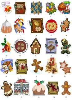 Cookies Food Christmas Return Address Labels Gift Favor Tags Buy 3 Get