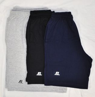 New Russell Mens Athletic Cotton Blend Shorts