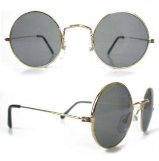 Round John Glasses Hippie Sunglasses 60s Smoke