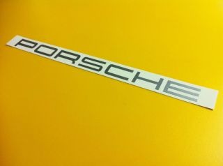 32 Porsche Windshield Banner Decal Silver Vinyl Sticker