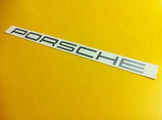 32 Porsche Windshield Banner Decal Silver Vinyl Sticker