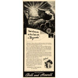 1943 Ad WWII Bell & Howell Filmo Movie Camera Projector