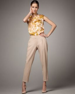 Rachel Roy Cropped Tropical Wool Pants   Neiman Marcus