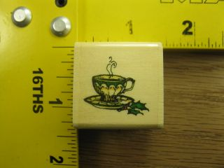 Holly Pond Hill Small Christmas Tea Cup by Uptown Rubber Stamp 3091