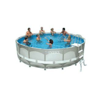 Intex Ultra Frame 16 Foot by 48 Inch Round Pool Set Patio