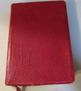 Holman Bible *Verse Reference Jewel Ed. *French Morocco Leather/Red