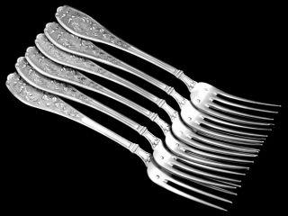 Henin Incredible French Sterling Silver Dinner Flatware Set 12 PC