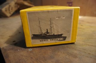Harriet Lane Model Shipways Carved Hull Kit Nice Original Complete