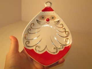 Vintage Holt Howard 1959 Santa Candy Trinket DIsh