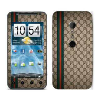 Meestick Gucci Brown Vinyl Adhesive Decal Skin for HTC Evo