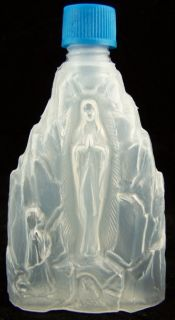 Our Lady of Lourdes Holy Water Bottle Font Pray Italy