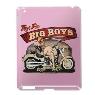 iPad 2 Case Pink of Toys for Big Boys Lady on Motorcycle